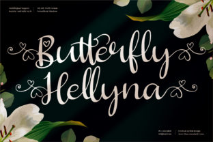 Print on Demand: Butterfly Hellyna Manuscrita Fuente Por perspectype