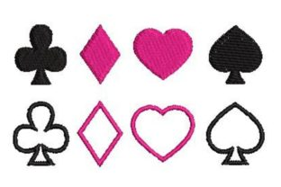 Card Suits Games & Leisure Embroidery Design By Embroidery Designs