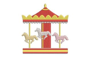 Carousel Circus & Clowns Embroidery Design By Embroidery Designs