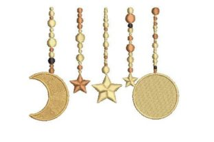 Celestial Hanging Stars Nursery Embroidery Design By Embroidery Designs