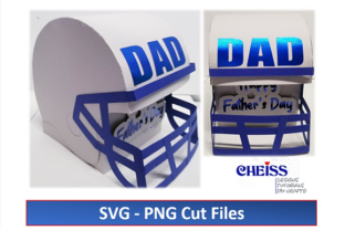 Father's Day Helmet Gift Box || 3D DAD Graphic 3D SVG By Cheiss Designs