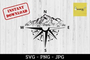 Mountains Tree Compass Graphic 3D SVG By HARUKI