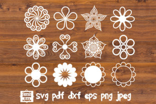 Print on Demand: Outlines Flowers Svg Graphic Crafts By Craft Box