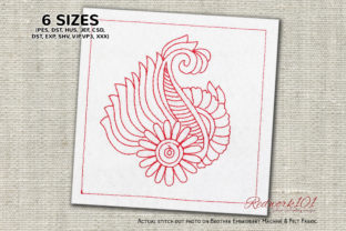 Paisley Mehandi Paisley Embroidery Design By Redwork101