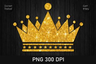 Print on Demand: Princess Crown Gold Glitter Clipart Graphic Crafts By Rizu Designs