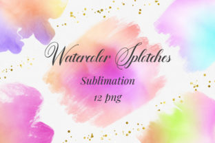 Print on Demand: Sublimation Watercolor Splotches Graphic Backgrounds By PinkPearly
