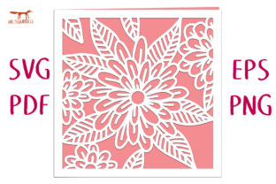 Sunrise Flower Card SVG Cut File Graphic 3D SVG By Nic Squirrell