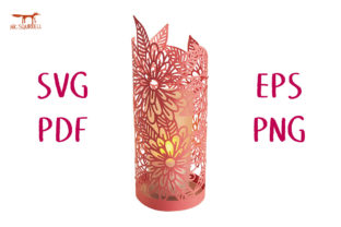 Sunrise Flower Lantern SVG Cut File Graphic 3D SVG By Nic Squirrell