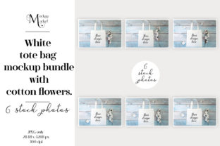 Tote Bag Mockup Bundle with Cotton. Graphic Product Mockups By OK-Design