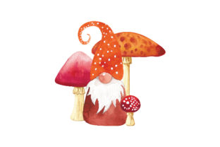 Gnome and Mushrooms Designs & Drawings Craft Cut File By Creative Fabrica Crafts