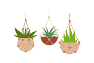 Boho Macrame Plant Hangers Designs & Drawings Craft Cut File By Creative Fabrica Crafts