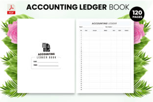 Print on Demand: Accounting Ledger Book - KDP Interior Graphic KDP Interiors By Design invention