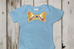 Bow Tie Applique Boys & Girls Embroidery Design By DesignedByGeeks