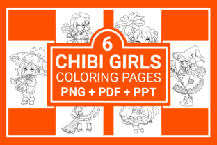 Chibi Girls Coloring Pages Graphic Coloring Pages & Books By SIDO KDP
