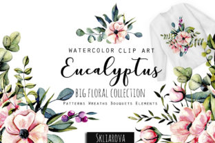 Print on Demand: Eucalyptus Collection Graphic Illustrations By HappyWatercolorShop