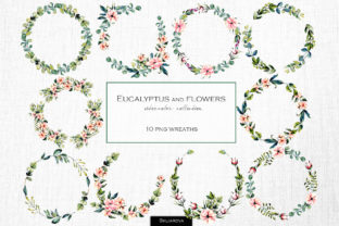 Print on Demand: Eucalyptus Wreaths Graphic Illustrations By HappyWatercolorShop