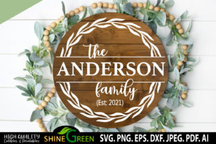 Print on Demand: Family Monogram Sign for Home, Farmhouse Graphic Crafts By ShineGreenArt