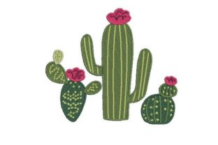 Flowering Cactus Bouquets & Bunches Embroidery Design By Embroidery Designs