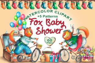 Fox Baby Shower Graphic Illustrations By rembrantd.ulya