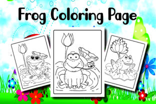 Frog Coloring Page for Kids Graphic Print Templates By Alpha Coloring