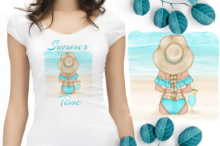 Print on Demand: Girl on the Beach Sublimation, Summer Pn Graphic Illustrations By LerVik