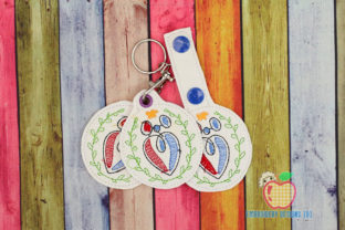 Global Family Day ITH Key Fob Relatives Embroidery Design By embroiderydesigns101