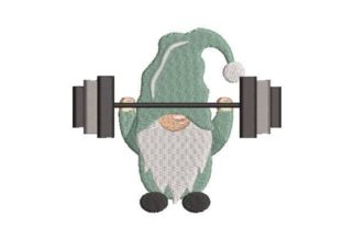 Gnome Exercising Sports Embroidery Design By Embroidery Designs