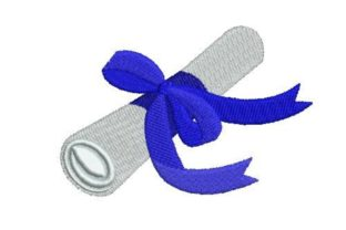 Graduation Skroll with Royal Blue Graduation Embroidery Design By Embroidery Designs