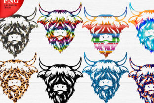 Print on Demand: Highland Cow Set Graphic Crafts By ceropoly