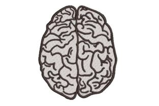 Human Brain Line Art Work & Occupation Embroidery Design By Embroidery Designs