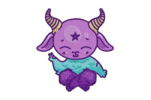 Kawaii Style Devil Fairy Tales Embroidery Design By Embroidery Designs