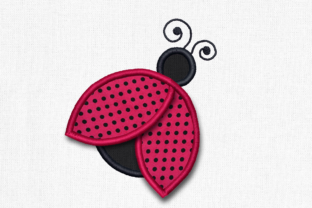 Ladybug with 3D Wings Bugs & Insects Embroidery Design By DesignedByGeeks
