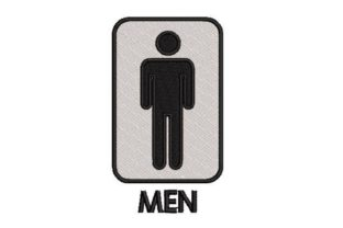 Male Toilet Sign Bathroom Embroidery Design By Embroidery Designs