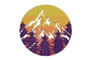 Mountains and Trees Forest & Trees Embroidery Design By Embroidery Designs