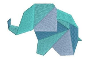 Origami Elephant Wild Animals Embroidery Design By Embroidery Designs