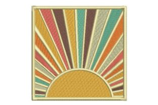 Retro Sunset Summer Embroidery Design By Embroidery Designs