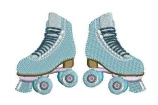 Roller Skates Dance & Drama Embroidery Design By Embroidery Designs