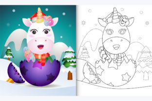 Unicorn Christmas Ball - Coloring Page Graphic Coloring Pages & Books By wijayariko