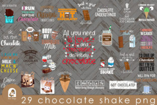 29 CHOCOLATE SHAKE PNG Graphic Print Templates By Add-ons Quinterao
