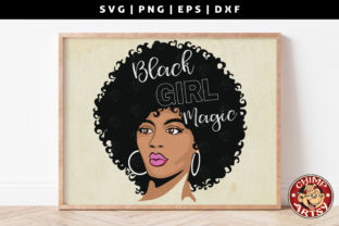 Print on Demand: Black Girl Magic Sublimation Svg Graphic Crafts By ChimpArtsy