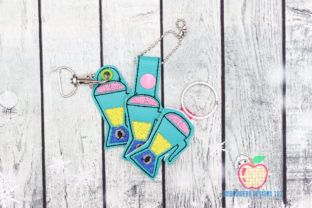 Cartoon Kitchen Blender ITH Keyfob Kitchen & Cooking Embroidery Design By embroiderydesigns101