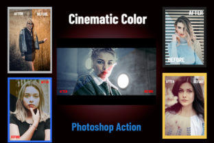 Cinematic Color Photoshop Action Graphic Add-ons By hmalamin8952