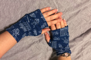 Fingerless Gloves ITH Accessories Embroidery Design By DesignedByGeeks