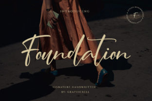 Print on Demand: Foundation Script & Handwritten Font By Graphicxell