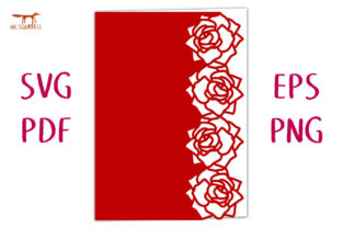Fresh Roses Lace Edged Card SVG Cut File Graphic 3D SVG By Nic Squirrell