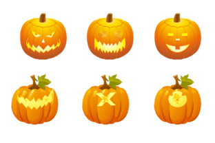 Halloween Pumpkins Smile Vector Free Graphic Illustrations By Pro Graphics