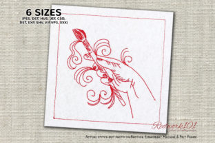 Hand Painting Sewing & Crafts Embroidery Design By Redwork101