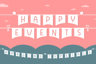 Print on Demand: Happy Events Decorative Font By Situjuh