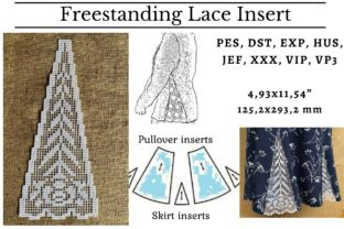 Lace Insert Clothing Embroidery Design By LaceArtDesigns