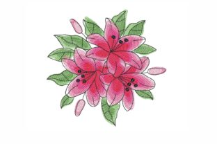 Lily Bouquets & Bunches Embroidery Design By SonyaEmbroideryStore